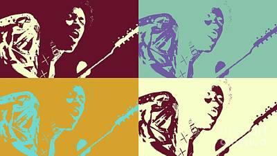 Mixed Media - Jimi Hendrix - Pop Art # 2 by Ian Gledhill