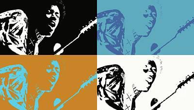 Digital Art - Jimi Hendrix - Pop Art by Ian Gledhill