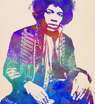Digital Art - Jimi Hendrix Pop Art by Jimi Hendrix