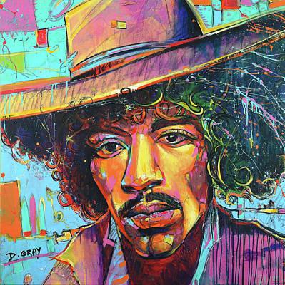 Hendrix Painting - Jimi Hendrix - Pop Art - Music Icon by Damon Gray