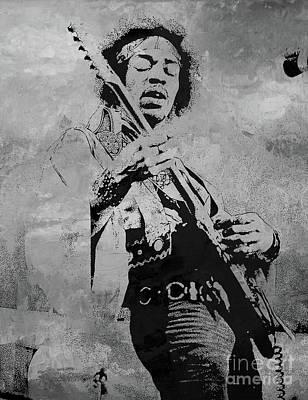 Painting - Jimi Hendrix Pop Star  by Gull G