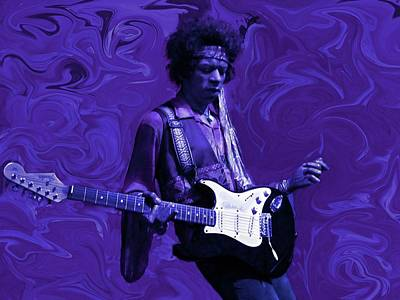 Musicians Photos - Jimi Hendrix Purple Haze by David Dehner