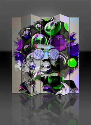 Mixed Media - Jimi Hendrix Purple Haze by Marvin Blaine