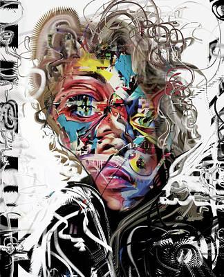 Mixed Media - Jimi Hendrix by Russell Pierce