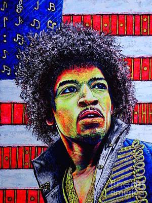 Painting - Jimi Hendrix by Viktor Lazarev