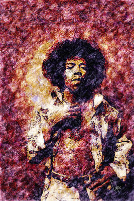 Jimi Hendrix Painting - Jimi Hendrix by Vya Artist