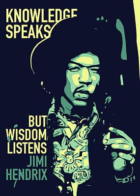 Jimi Hendrix Art Print by Greatom London