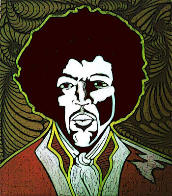 Jimi Art Print by Jeff DOttavio