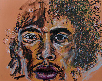 Drawing - Jimi by Katt Yanda