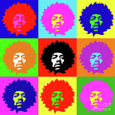 Royalty-Free and Rights-Managed Images - Jimi No.9 by Bobbi Freelance