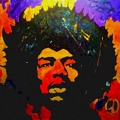 Jimi The Man Art Print