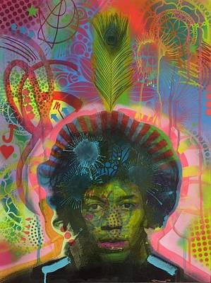 Mixed Media - Jimi V.3 by Dean Russo