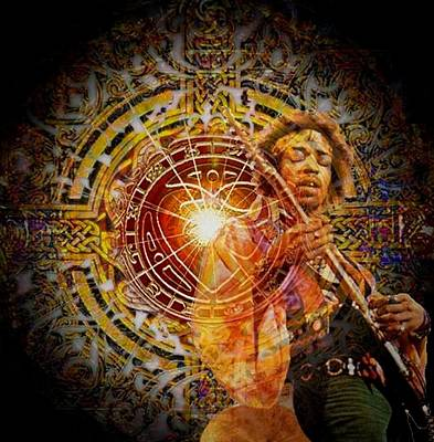 Photograph - Jimi With Heart Mandala by Lanita Williams