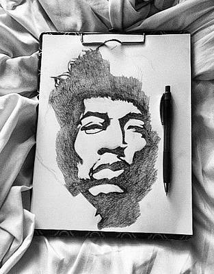 Drawing - Jimihendrix by Olivia Jones