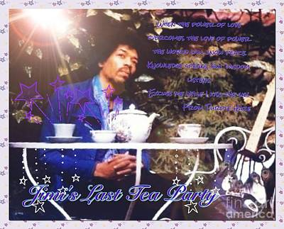 Photograph - Jimi's Last Tea Party 2 by Joan-Violet Stretch