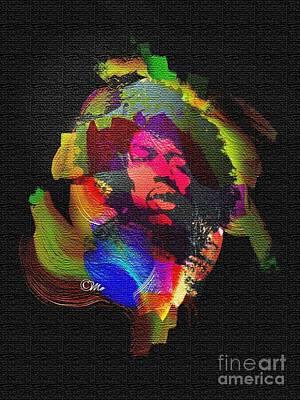 Jimmi Hendrix Art Print by Mo T