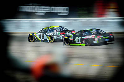 Photograph - Jimmie Johnson Charging Ahead At Mis by Productions by JPM Media