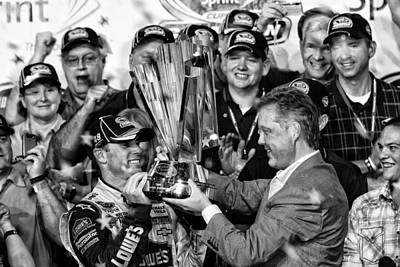 Jimmie Johnson Wins Art Print by Kevin Cable
