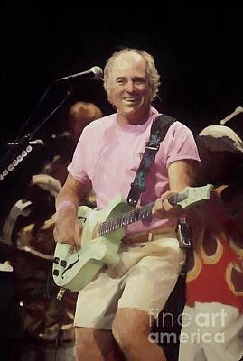 Photograph - Jimmy Buffet Oil Painting Enlargements by Concert Photos