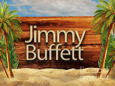 Jimmy Buffett Tee Art Print