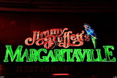 Nashville Sign Photograph - Jimmy Buffett's Margaritaville by Lisa Wooten