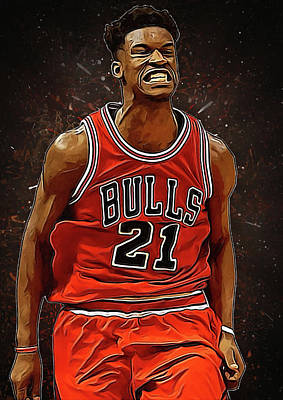 Kobe Digital Art - Jimmy Butler by Semih Yurdabak