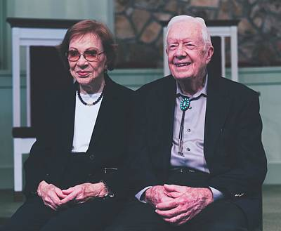 Photograph - Jimmy Carter And Wife Rosalynn by Library Of Congress