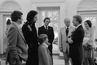 Carter House Photograph - Jimmy Carter With Johnny Cash by Everett