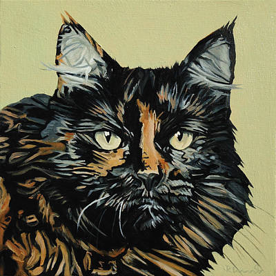 Painting - Jimmy Cat by Nathan Rhoads