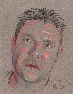Pastel Portraits Drawing - Jimmy by Donald Maier