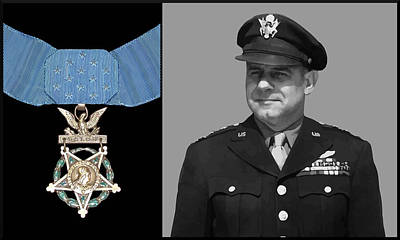 Landmarks Painting Royalty Free Images - Jimmy Doolittle and The Medal of Honor Royalty-Free Image by War Is Hell Store