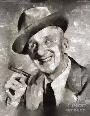 Elvis Presley Painting - Jimmy Durante, Comedian by Mary Bassett
