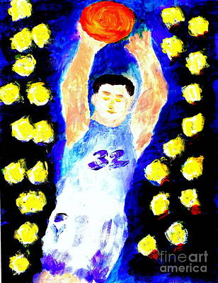 Jimmy Fredette Jimmered 2 Art Print by Ricardo Richard W Linford