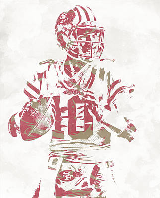 Mixed Media - Jimmy Garoppolo San Francisco 49ers Pixel Art 10 by Joe Hamilton