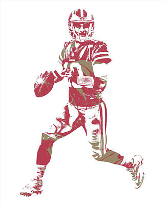 Mixed Media - Jimmy Garoppolo San Francisco 49ers Pixel Art 2 by Joe Hamilton