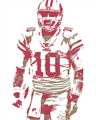 Mixed Media - Jimmy Garoppolo San Francisco 49ers Pixel Art 3 by Joe Hamilton