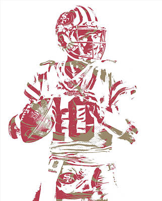 Mixed Media - Jimmy Garoppolo San Francisco 49ers Pixel Art 4 by Joe Hamilton