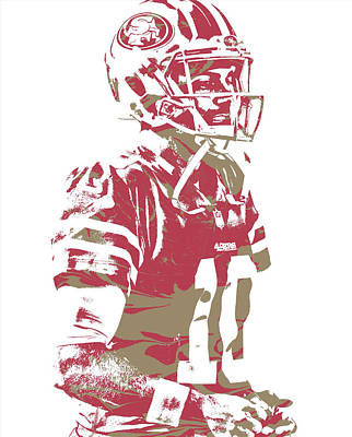 Mixed Media - Jimmy Garoppolo San Francisco 49ers Pixel Art 5 by Joe Hamilton