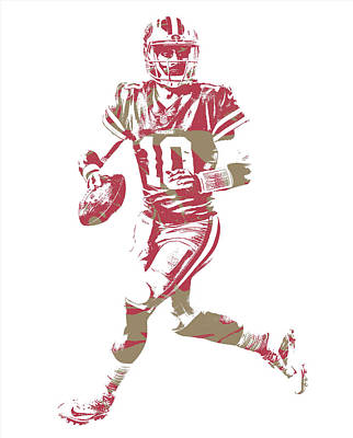 Mixed Media - Jimmy Garoppolo San Francisco 49ers Pixel Art 6 by Joe Hamilton