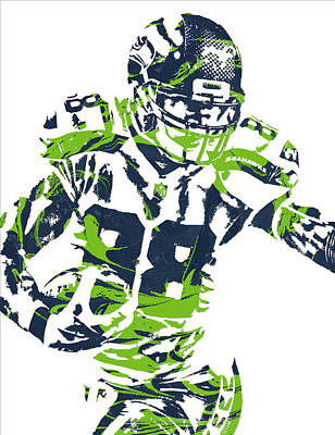 Seattle Mixed Media - Jimmy Graham Seattle Seahawks Pixel Art 11 by Joe Hamilton