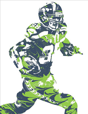 Seattle Mixed Media - Jimmy Graham Seattle Seahawks Pixel Art 5 by Joe Hamilton