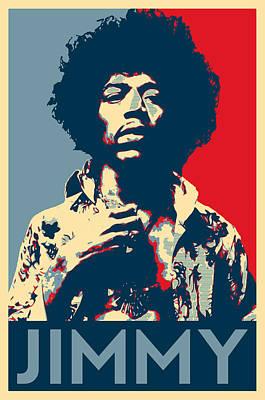 Obama Poster Digital Art - Jimmy Hendriks by Twan Urselmann