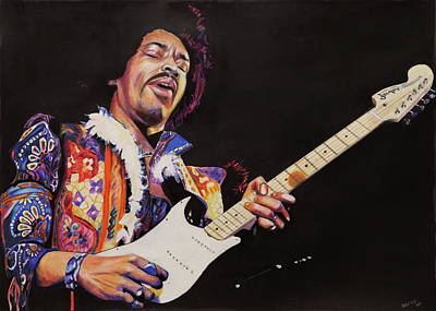Painting - Jimmy Hendrix by Chris Benice