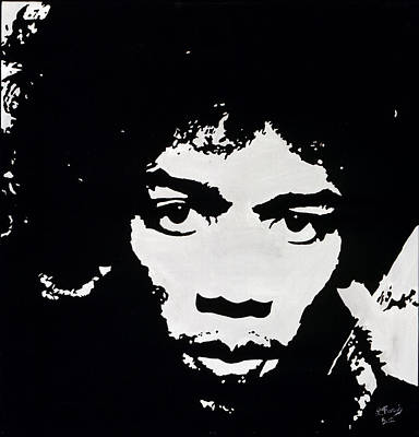 Jimmy Hendrix Painting - Jimmy Hendrix by Leeann Stumpf