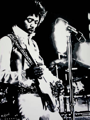 Music Rights Managed Images - Jimmy Hendrix Purple Haze Royalty-Free Image by Hood alias Ludzska