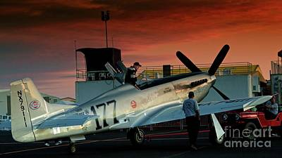 Reno Air Races Photograph - Jimmy Leeward And The Galloping Ghost By Gus Mccrea by Gus McCrea
