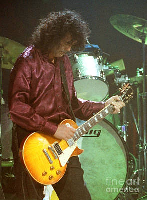 Robert Plant Performance Art Photograph - Jimmy Page-0002 by Timothy Bischoff