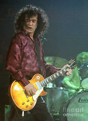 Robert Plant Performance Art Photograph - Jimmy Page-0005 by Timothy Bischoff