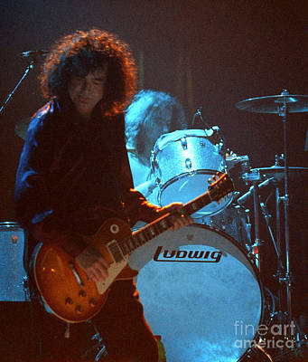 Robert Plant Performance Art Photograph - Jimmy Page-0010 by Timothy Bischoff