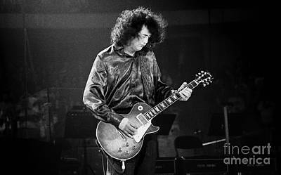 Robert Plant Performance Art Photograph - Jimmy Page-0028 by Timothy Bischoff